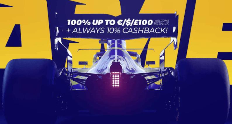 race casino bonus ja formula1 kilpa-auto