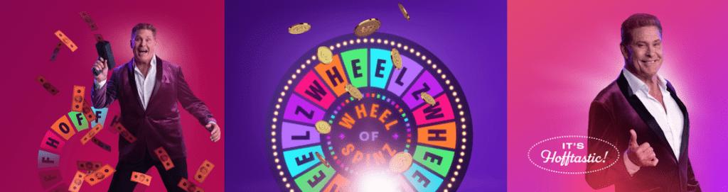 wheelz kasino tarjoaa oman bonuspyörän joka on hofftastic